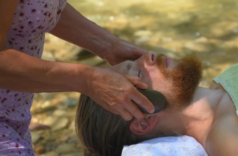 Allgäuer FlussStein Massage für Gesicht unf Kopf - Herrlich entspannend ...
